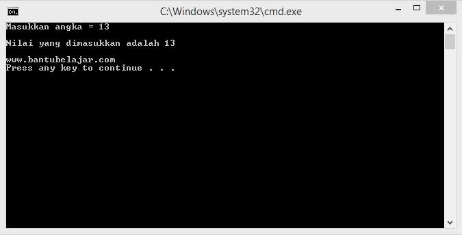 Format dan Perintah Input Pada C++