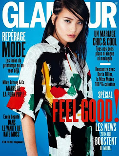 Magazine Cover : Li Wei Magazine Photoshoot Pics on Glamour Magazine France February 2014 Issue