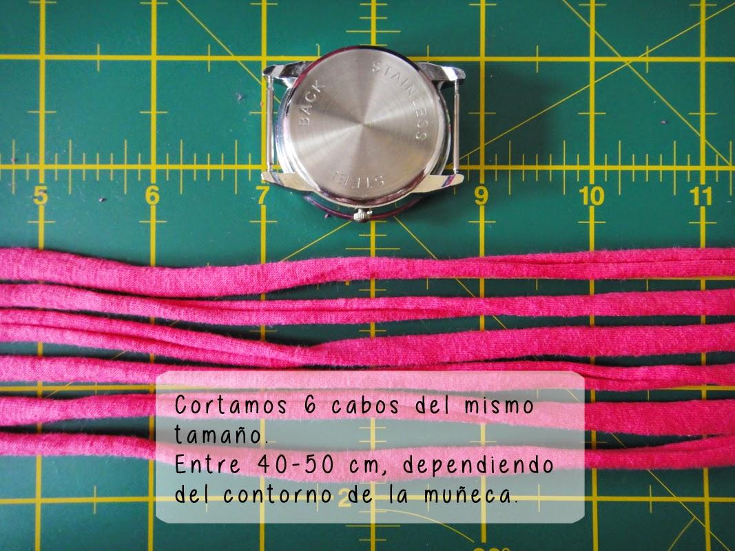 DIY- Correa de reloj - Paso 1