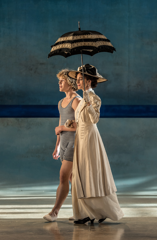 Celestin Boutin and Nina Goldman Death in Venice, Garsington Opera photo Clive Barda