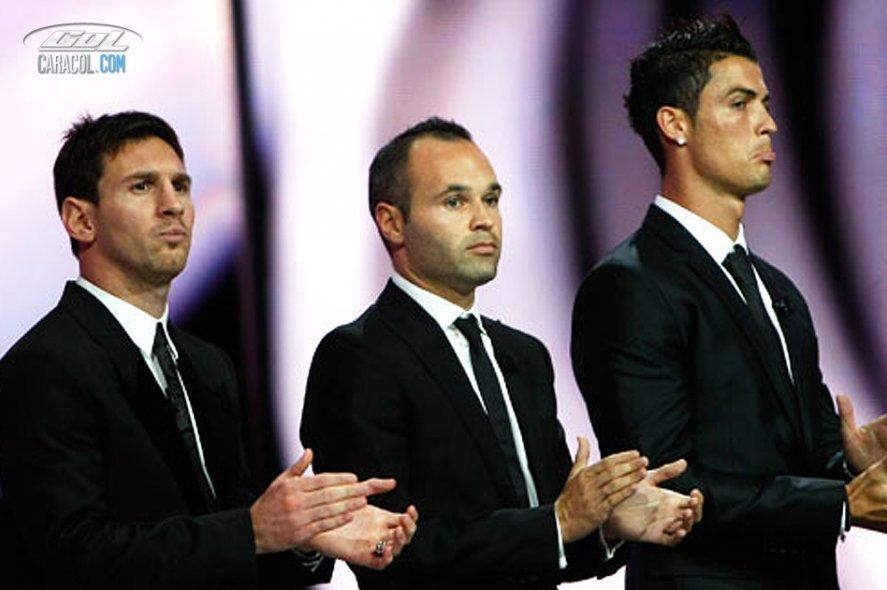 Iniesta, balón de Oro de la UEFA