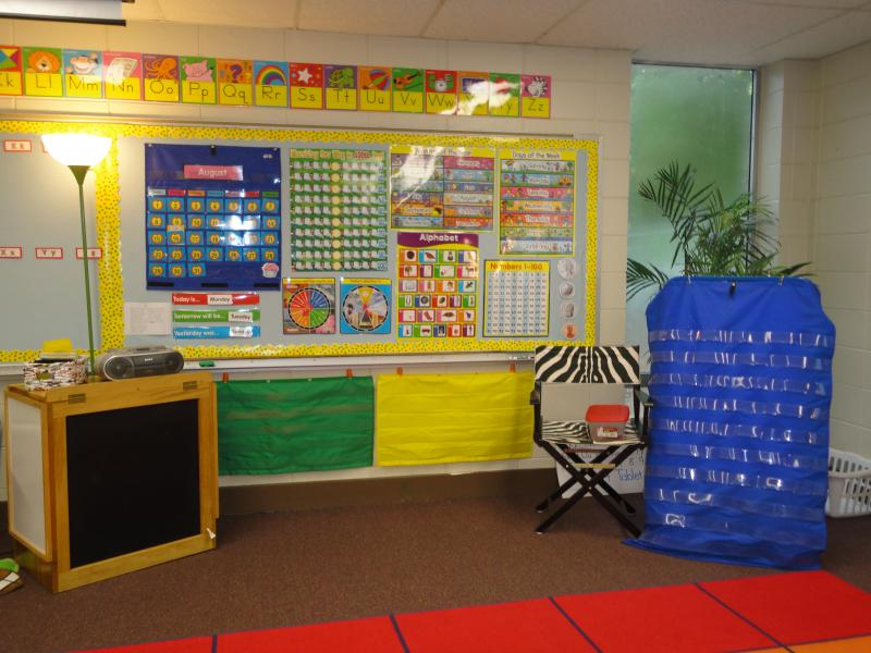 Primary Classroom Decoration Ideas ~ Miss thrifty slp in which she saw lots of organization