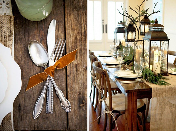 decoración navideña para mesas y casas