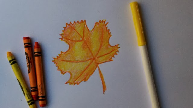 Doodle Draw Art Draw And Color A Beautiful Fall Leaf Autumn