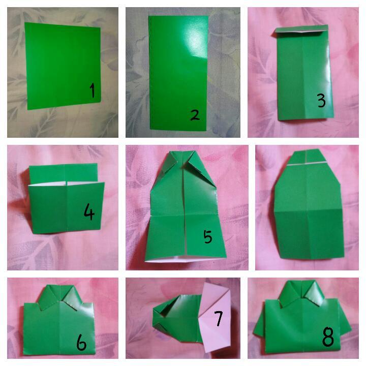 tutorial origami kemeja