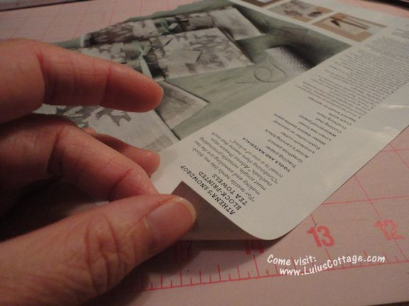 rolled magazine art instructions