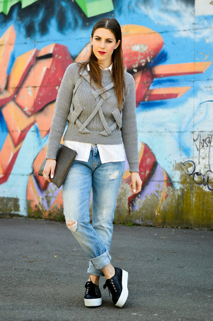 casual outfit boyfriend jeans how to wear boyfriend jeans come abbinare boyfriend jeans superga for the blonde salad H&M rings outfit primaverile spring look Thesparklingcinnamon