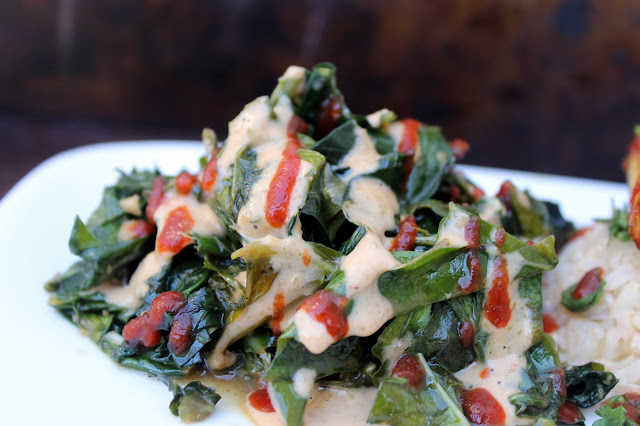 Vegan4One's Thai Inspired Greens and Thai Peanut Sauce
