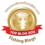Top 75 Fishing Blogs 2011 Awards by VeteransBenefitsGIBill.com