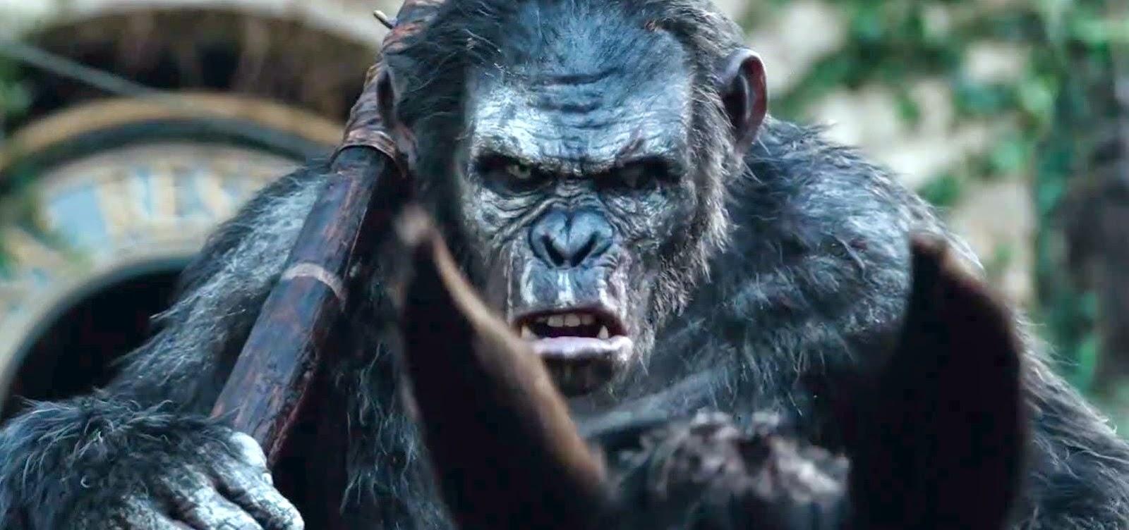 Comercial estendido, featurette e pôster inéditos da sequência Planeta dos Macacos: O Confronto