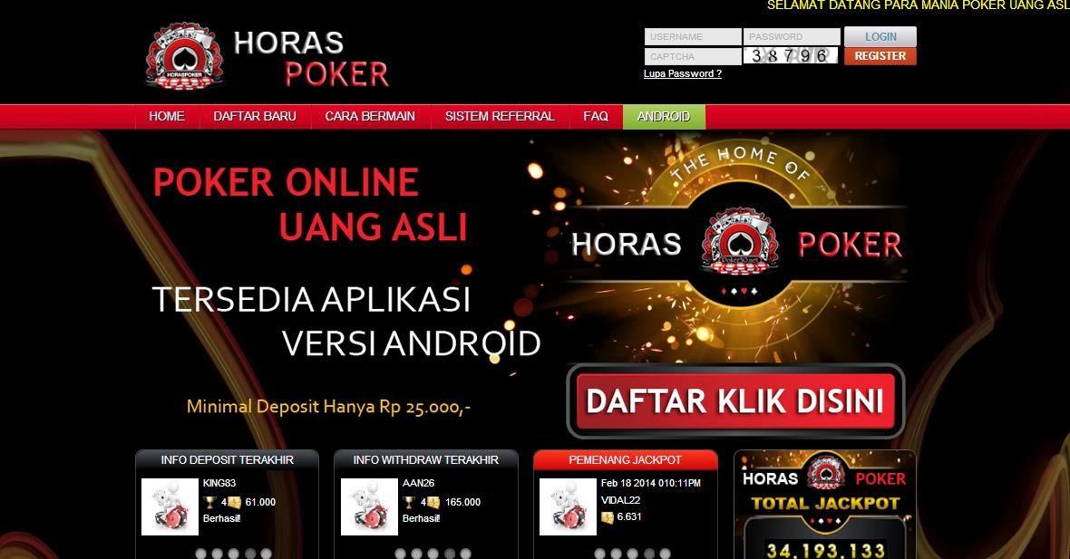 Daftar Poker Online Uang Asli HorasPoker.com