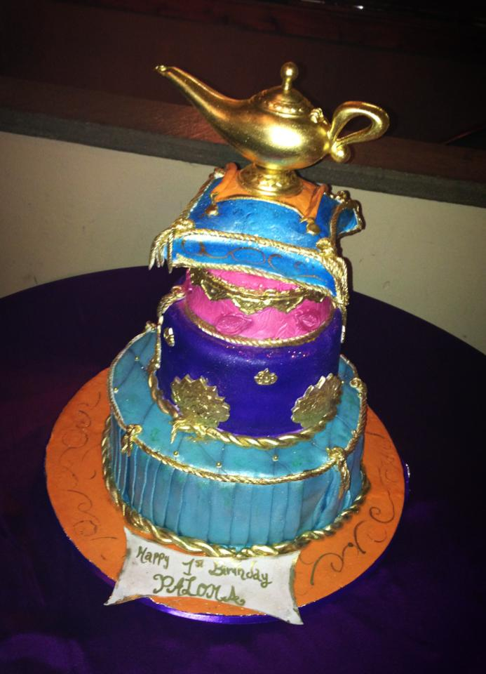 Pin arabian nights themed quinceanera cake pic 20 cake on for Arabian cake decoration