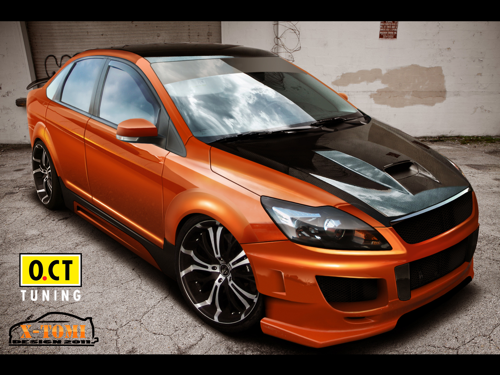x tomi design ford focus sedan orange. Black Bedroom Furniture Sets. Home Design Ideas
