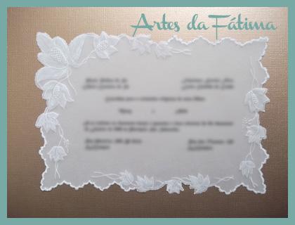 Artes Da Fátima Convite De Casamento Em Papel Vegetal