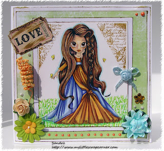 Butterfly princess card