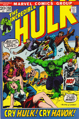 Incredible hulk #150, Havok, Polaris, Herb Trimpe, John Severin