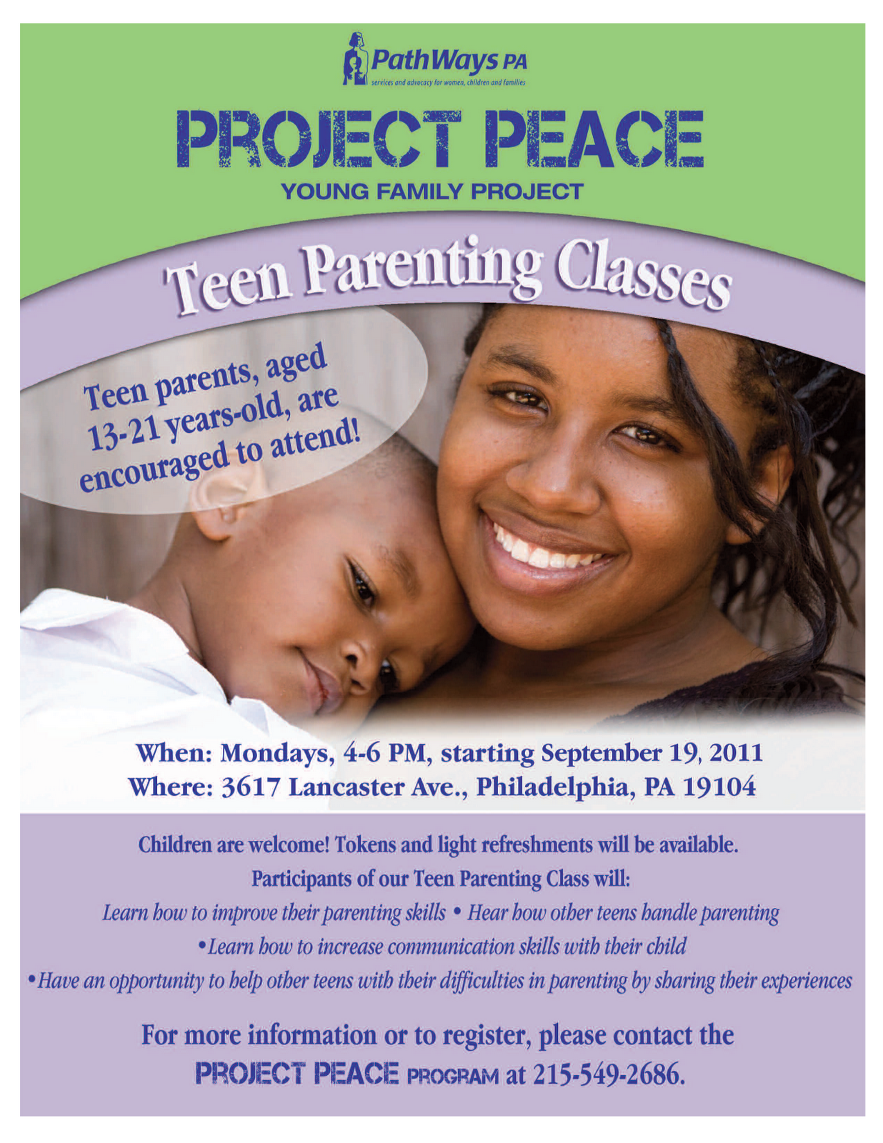 teen parenting program The teen parent child development services program provides developmental education, assessment, counseling, and practicum activities to promote positive developmental parenting for pregnant girls, young fathers-tobe, and parenting teens of both sexes.