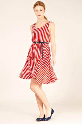 red stripy dress