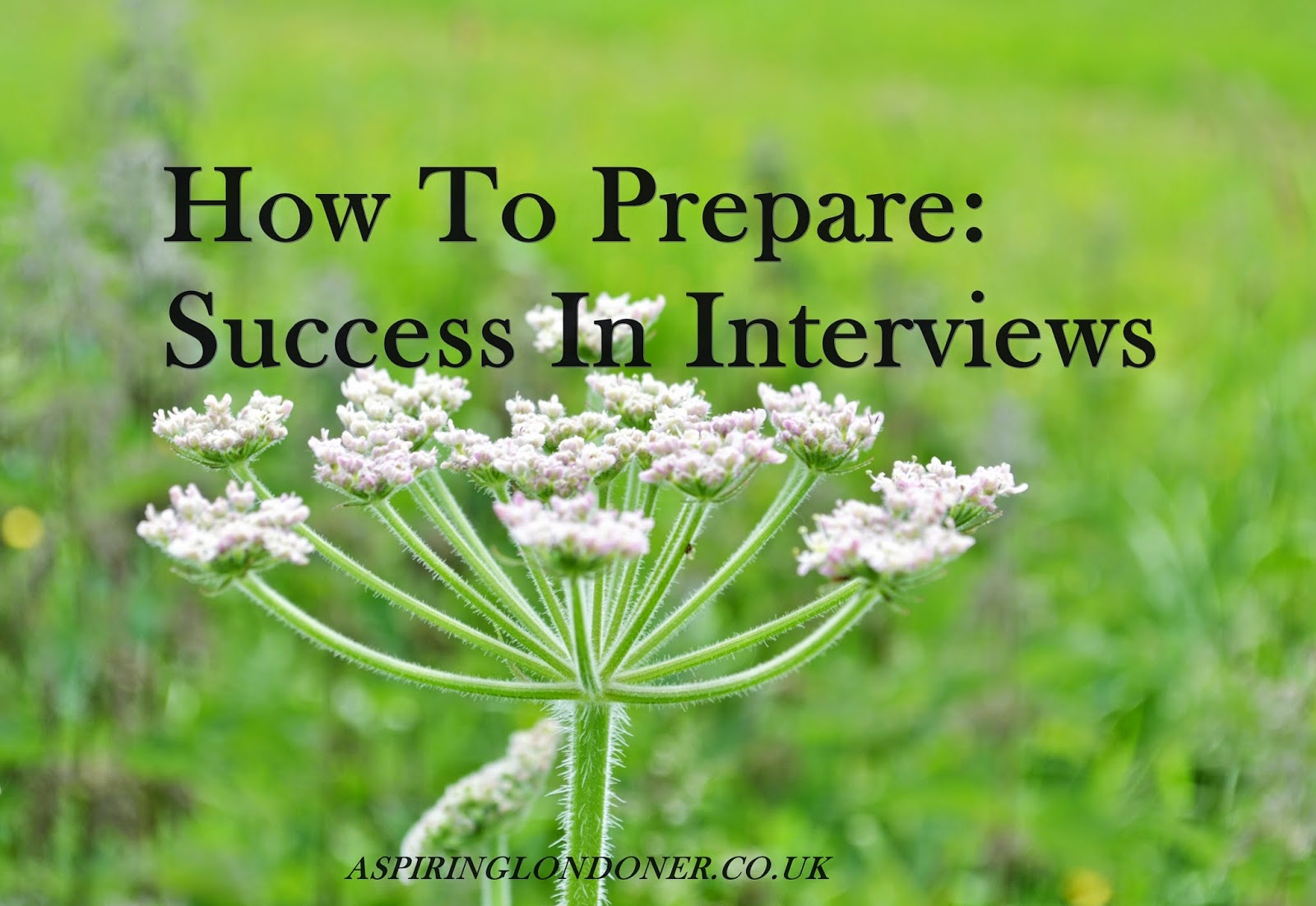 Prepare for a successful interview - Aspiring Londoner