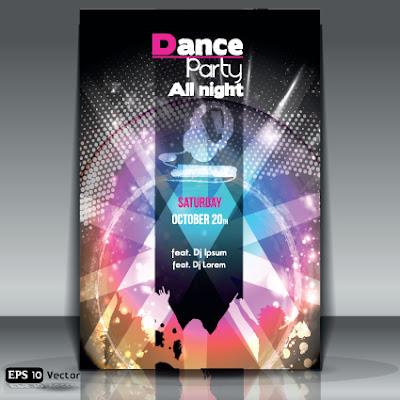 poster fiesta vector dance party
