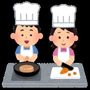 子供料理教室のイラスト