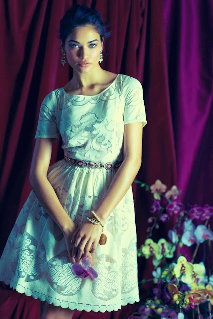 Anthropologie Spring/Summer 2014 Lookbook featuring Shanina Shaik