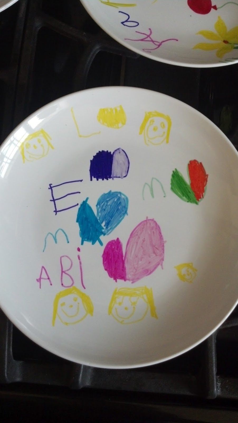 Abiu0027s plate & Back to the Basics!: DIY Plate Decorating