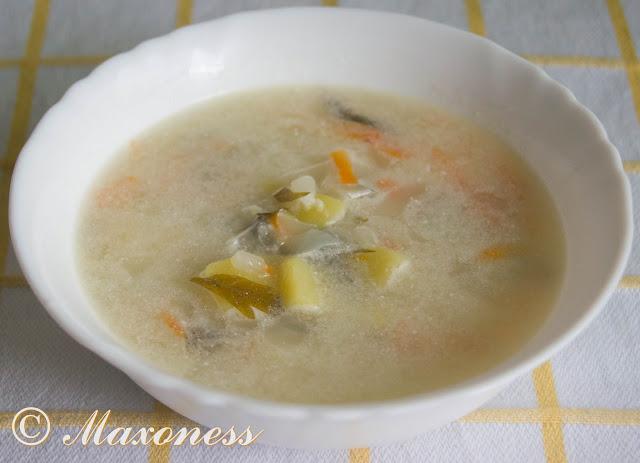 Суп крестьянский со сметаной