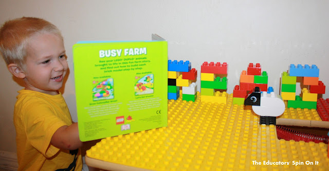 Learn to read with Lego Duplos