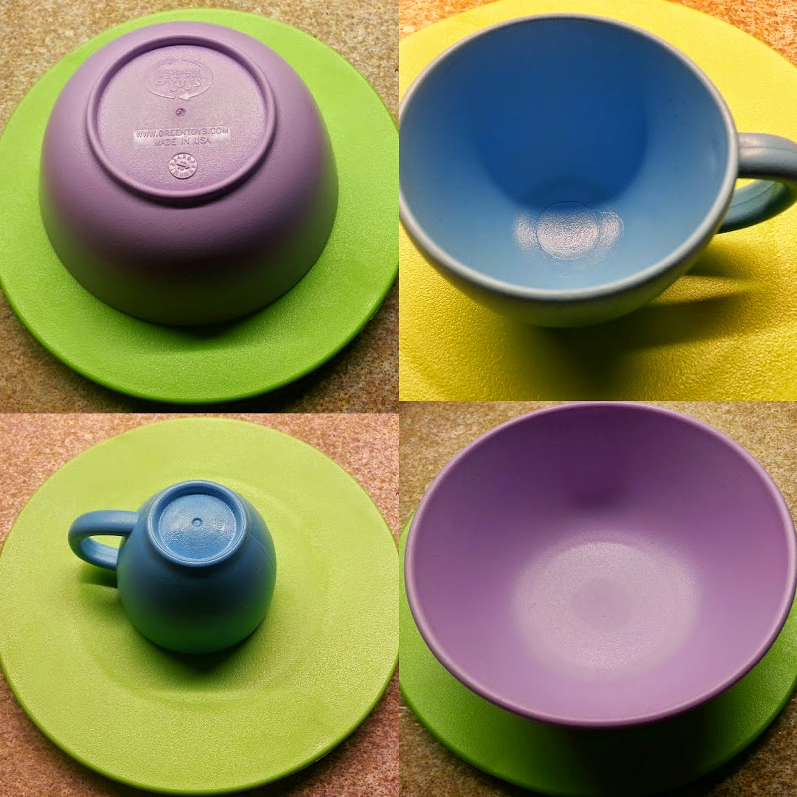Green Toys Recycled Plastic Cookware And Dining Set Review colours
