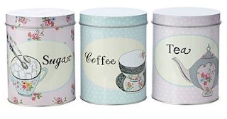 tea coffee jars shabby chic