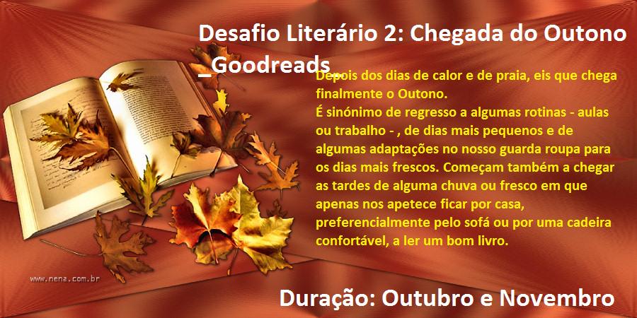 Desafio Literário 2: Chegada do Outono_Goodreads_