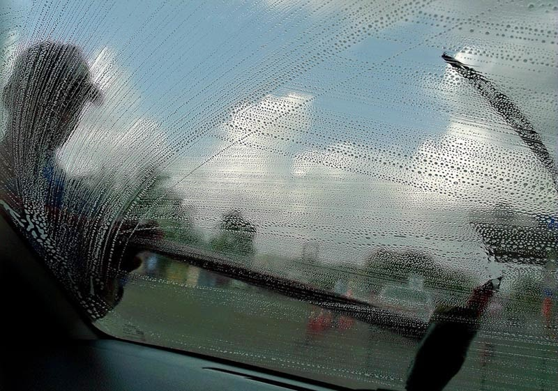 Soapy car window