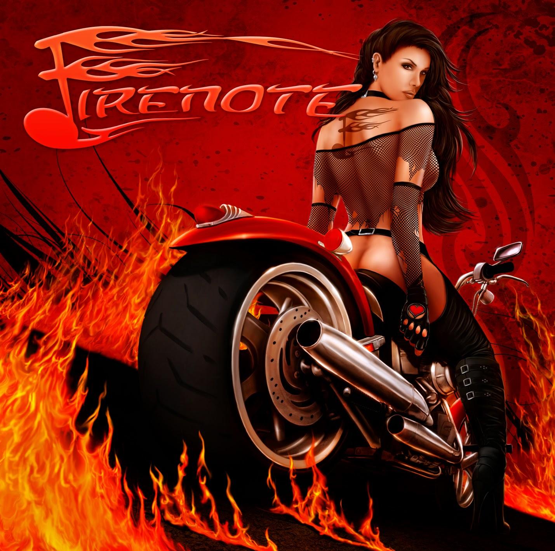 heavy metal album cover motorbike woman