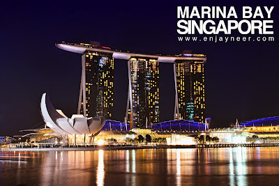 Marina Bay, Marina Bay Sands Hotel, Merlion, Singapore, Night, Nightscape, Shoot