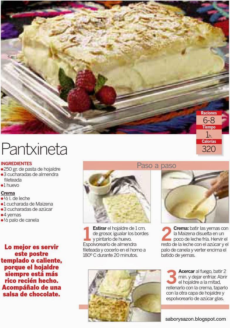 POSTRES TÍPICOS DEL PAIS VASCO - PANTXINETA - Gastronomía del Pais Vasco