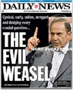 Mort Zuckerman the Evil Weasel of NY Daily News