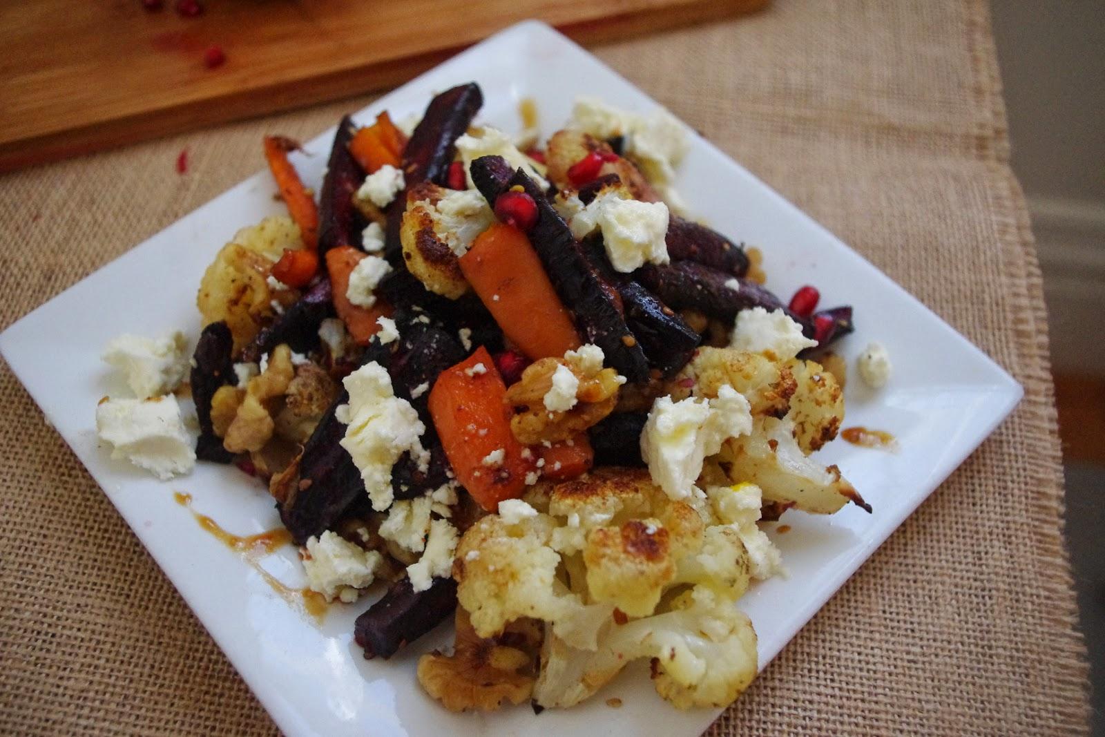 carrot-cauliflower-roasted-salad