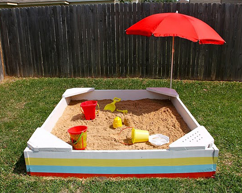 Backyard Sandbox : Weekend Project Build a Backyard Sandbox  Poppytalk