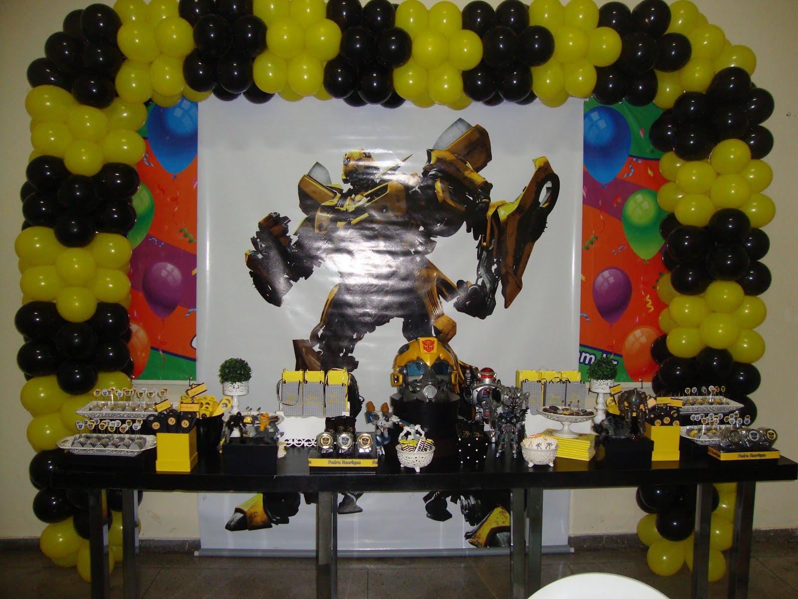 decoracao festa transformersFesta Transformers