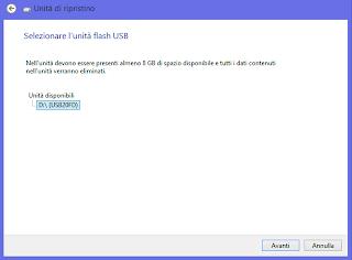 Creare disco di ripristino su Windows 8.1