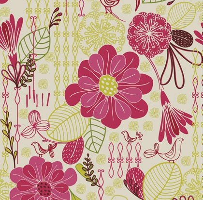floral wallpaper vector. flower designs for