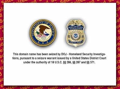 sitio de sirenas cerrado por el departamento de justicia y el homeland security investigations