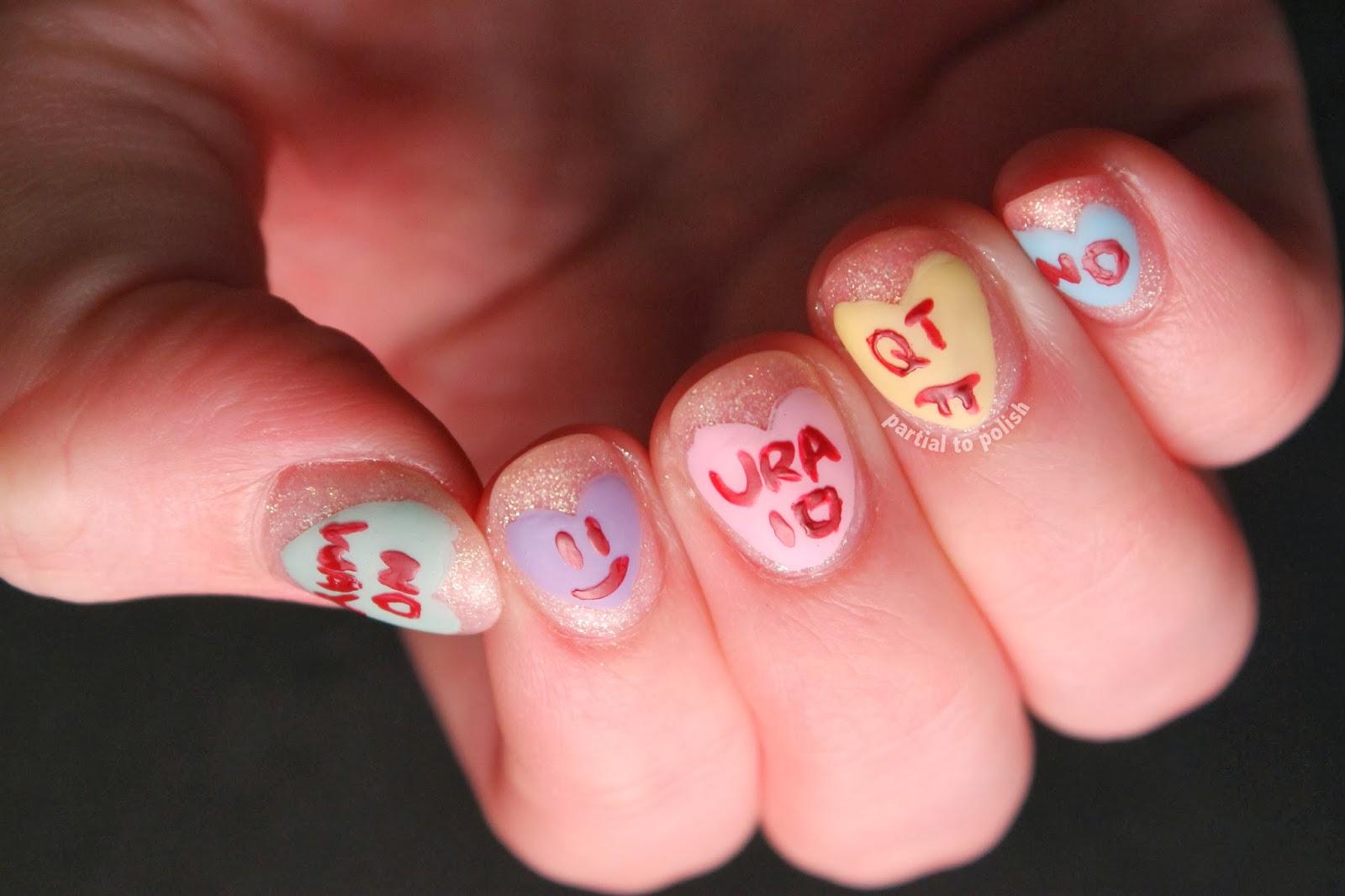 Valentine's/anti-Valentine's Day Nail Art
