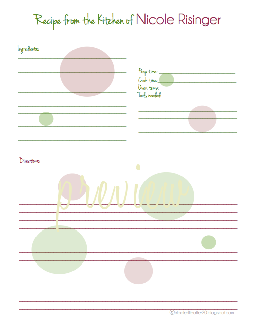 printable recipe binder. editable recipe binder printables recipe ...