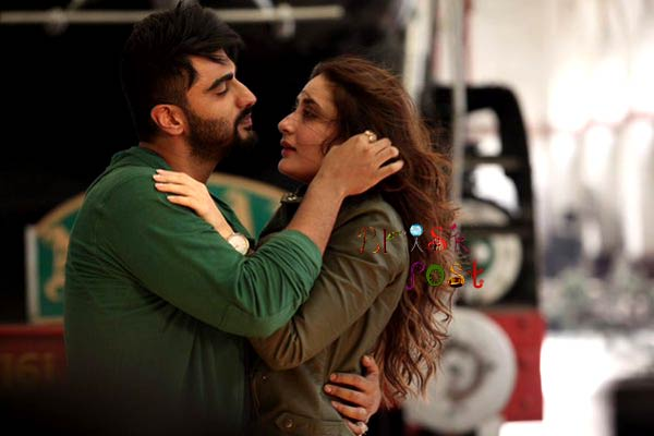 Arjun Kapoor and Kareena Kapoor romancing and embracing in Ki and Ka still