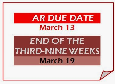 end of the nine-weeks ar due