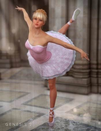 3d Models - Ballerina Outfit, Ballet Poses, Outfit Textures and all of them in a bundle