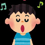 歌のイラスト「男の子・合唱」