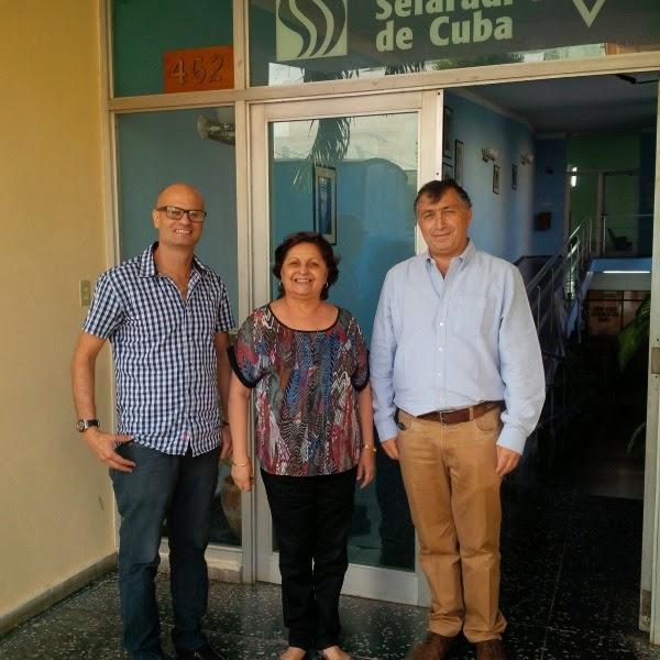 Em Cuba, presidente da Conib encontra liderança judaica e embaixador do Brasil